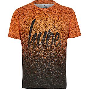 Hype - Oranje T-shirt met spikkelprint voor jongens