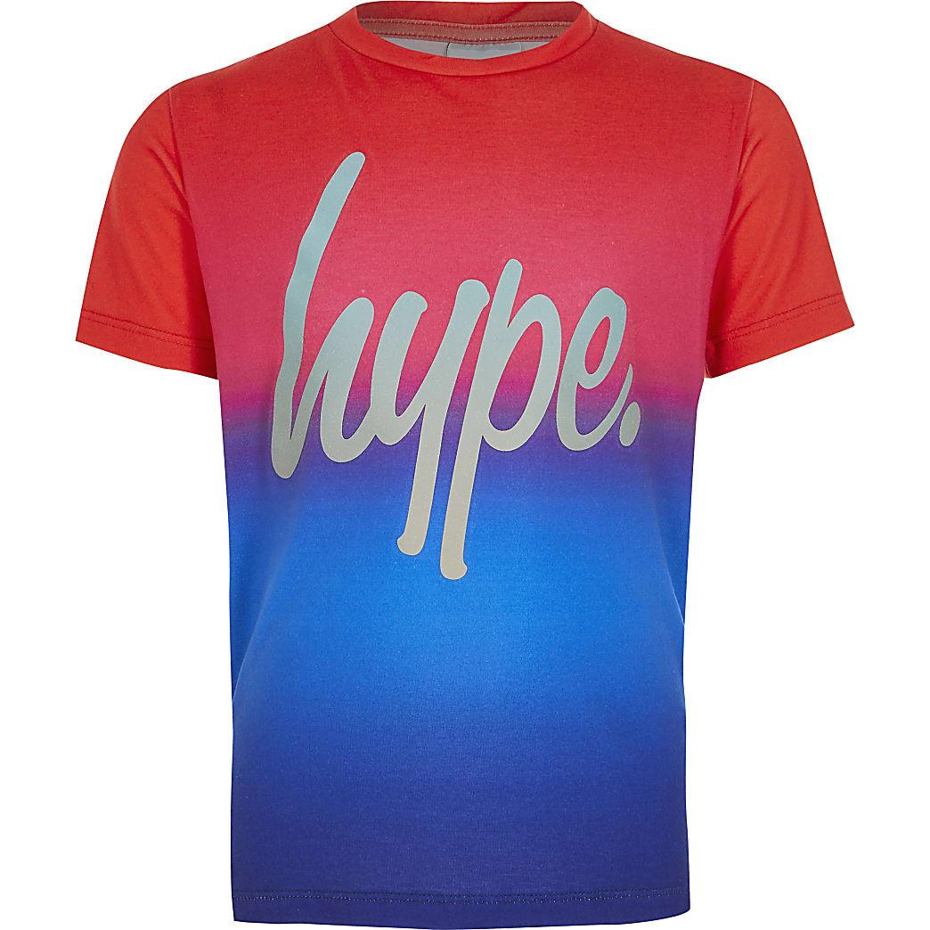 Boys Hype red rainbow fade T-shirt