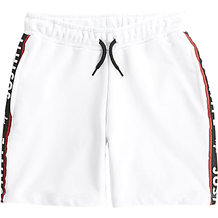 Boys Hype white tape shorts