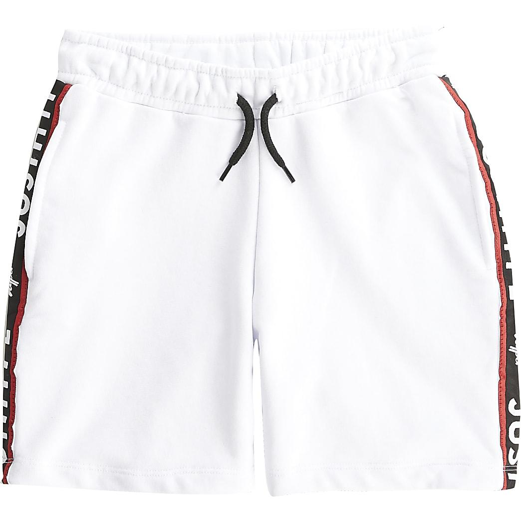 Boys Hype white tape shorts