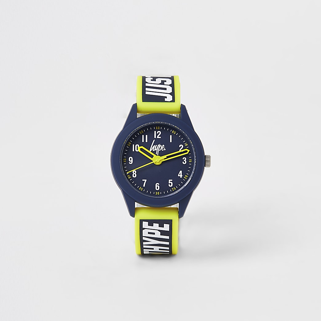 Boys Hype yellow colour pop watch