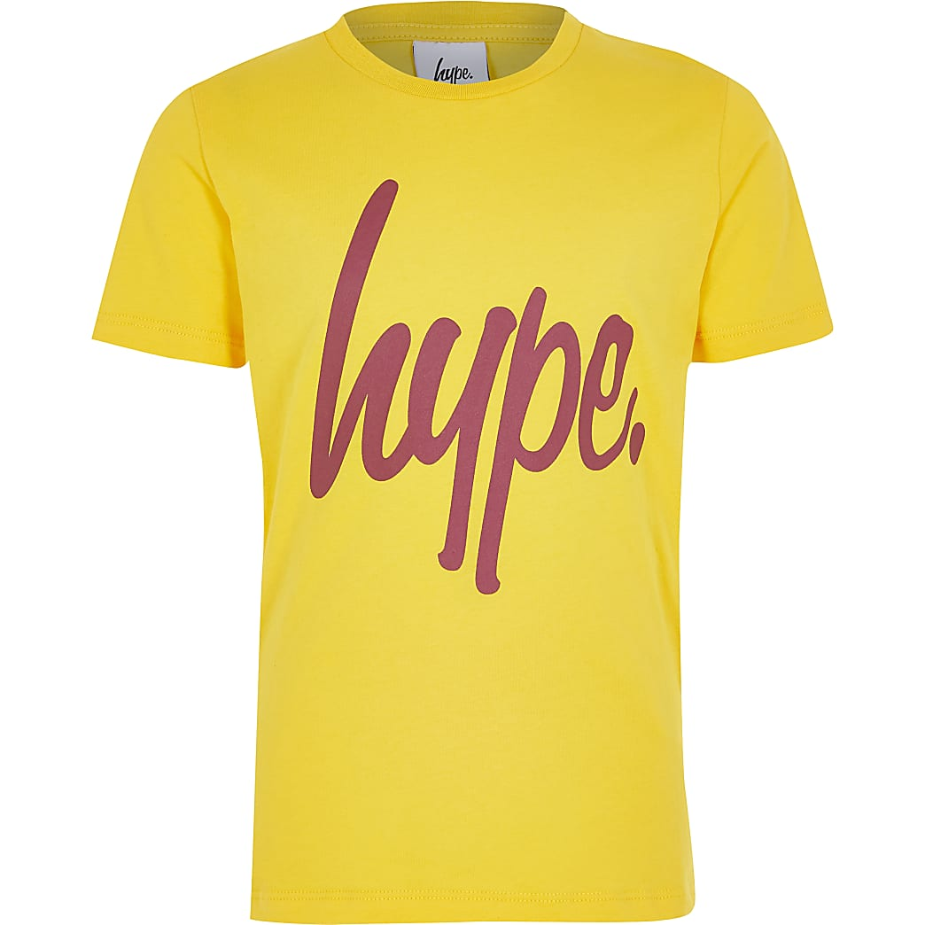 Hype - Geel T-shirt met print voor jongens
