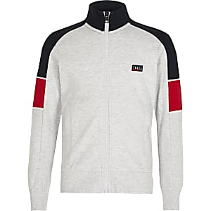 Jack and Jones – Graues Sweatshirt in Blockfarben
