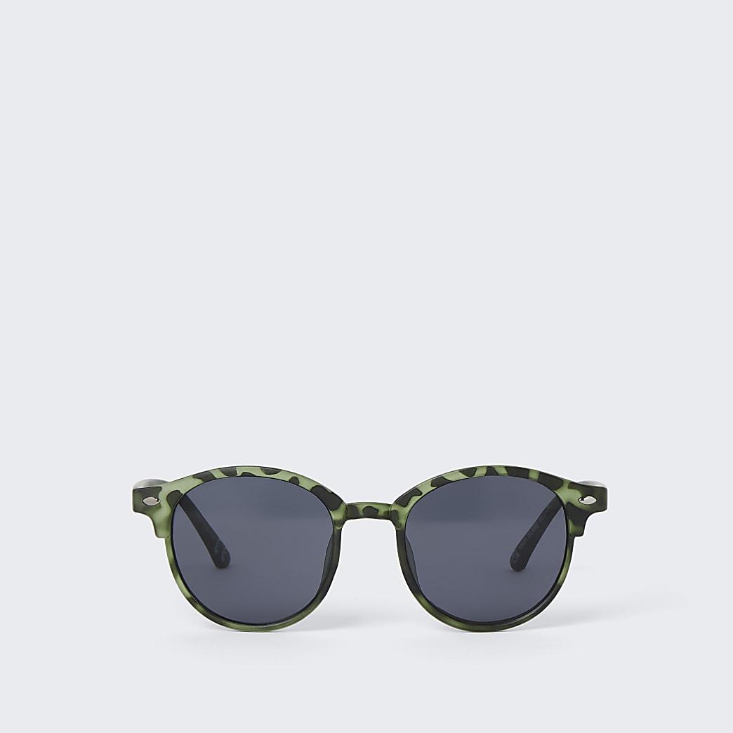 Boys khaki camo round sunglasses