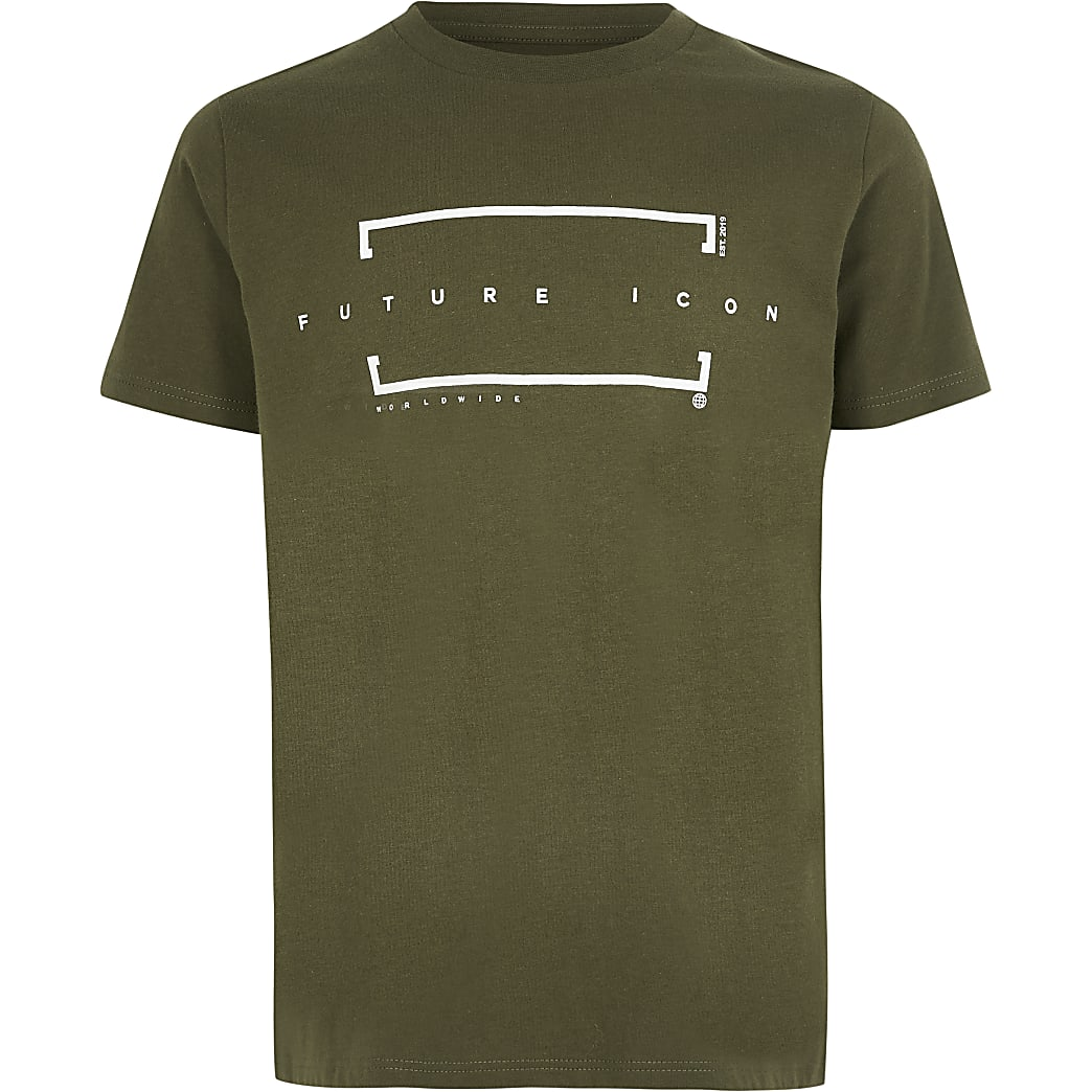 Boys khaki 'Future icon' T-shirt