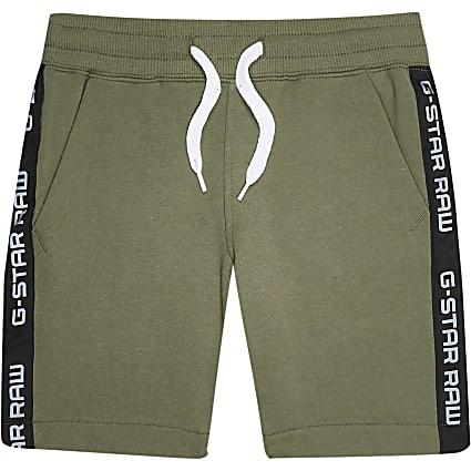 Boys khaki Gstar jersey short