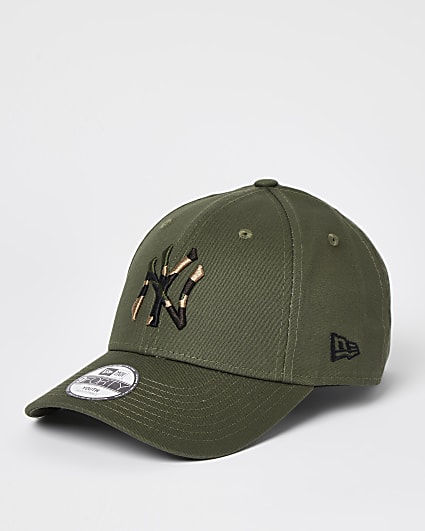 Boys khaki New Ere NY cap