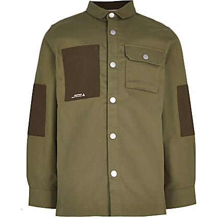 Boys khaki pocket shirt