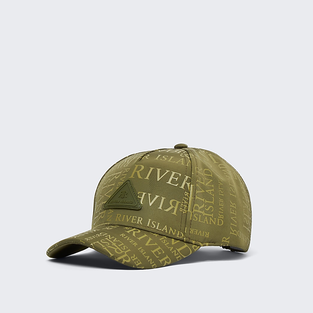Boys khaki RI monogram cap