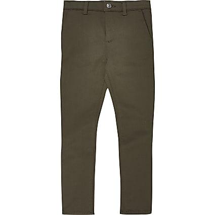 Boys khaki smart trousers