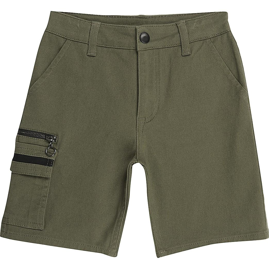 Boys khaki utility shorts
