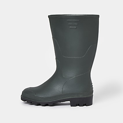 Boys khaki welly boots