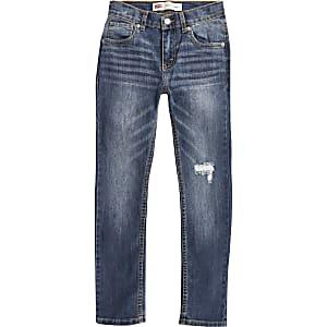 Levi's - Blauwe 510 skinny jeans voor jongens