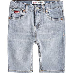 Levi's 510 – Blaue Skinny Fit Shorts