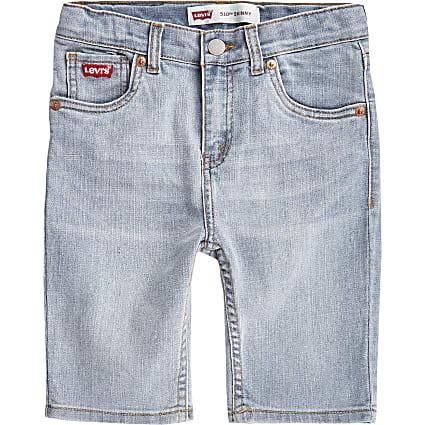 Boys Levi's blue 510 skinny shorts