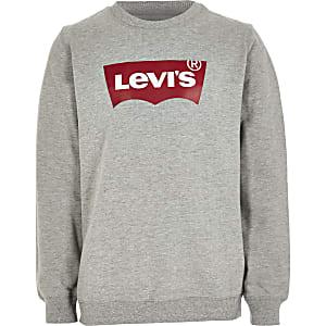 Levi's - Grijze sweater logo voor jongens