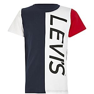 Levi's - Marineblauw T-shirt met kleurvlakken voor jongens