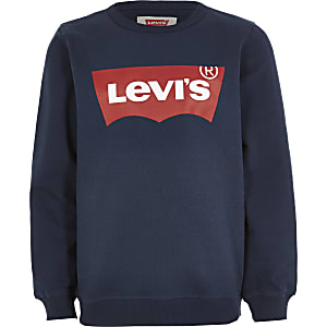 Levi's – Marineblaues Sweatshirt mit Logo