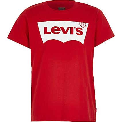 Boys Levi's red logo T-shirt