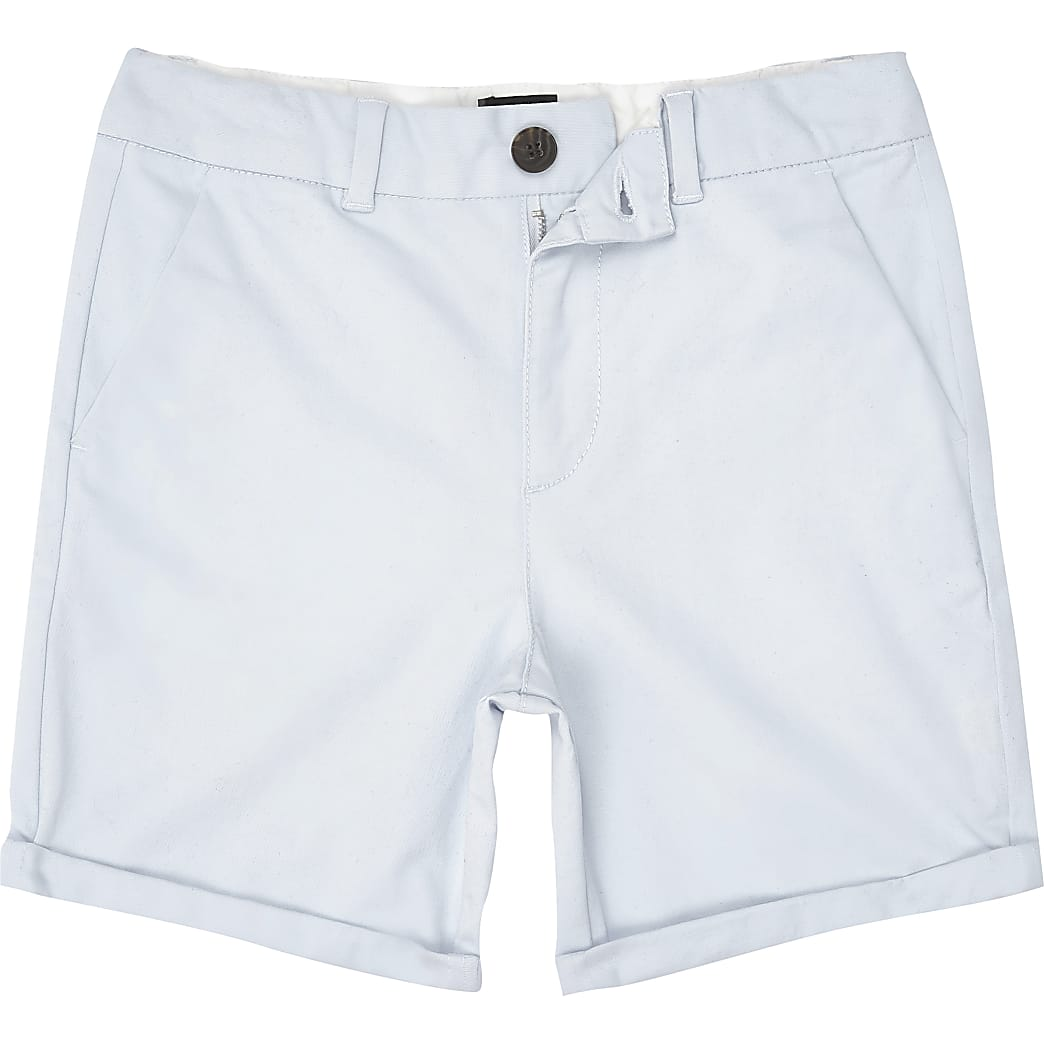 Boys light blue chino shorts