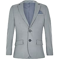 Boys light blue suit jacket