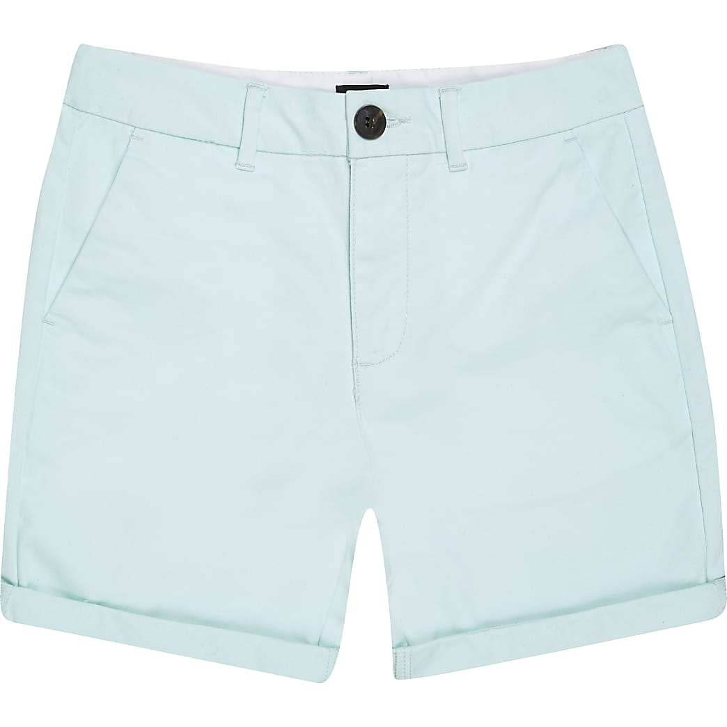 Boys light green chino shorts