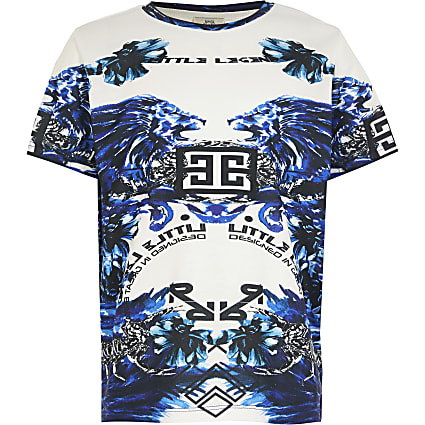 Boys 'Little Legend' baroque print t-shirt