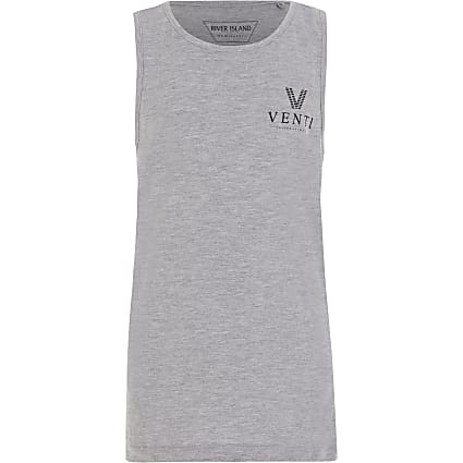 Boys MCMLX grey vest top