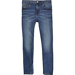 Danny - Middenblauwe superskinny jeans voor jongens