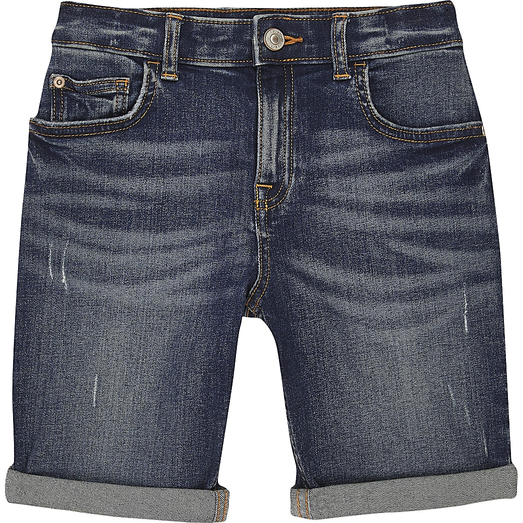 Boys mid blue Dylan denim shorts
