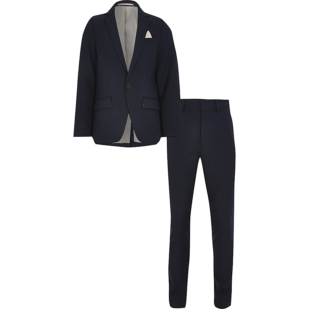 Boys navy 2 piece suit
