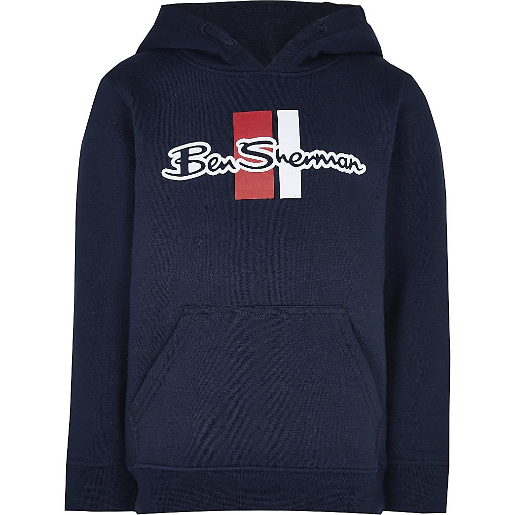 Boys navy Ben Sherman hoodie