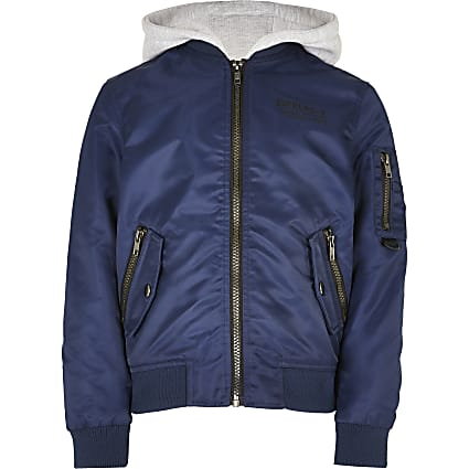 Boys navy bomber jacket