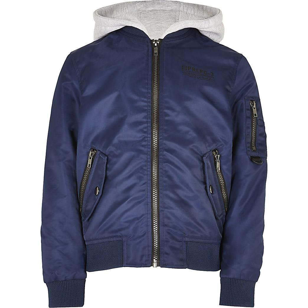 Boys navy bomber jacket