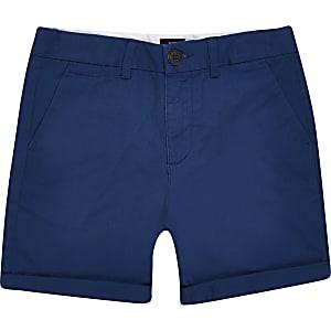Marineblauwe chino short voor jongens