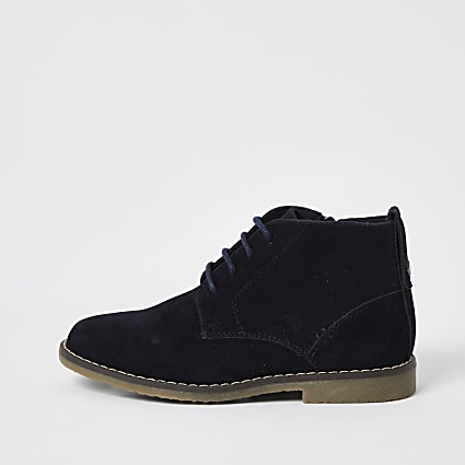 Boys navy desert boots