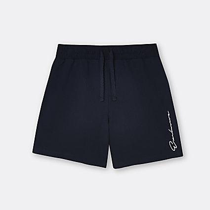 Boys navy 'Exclusive' shorts