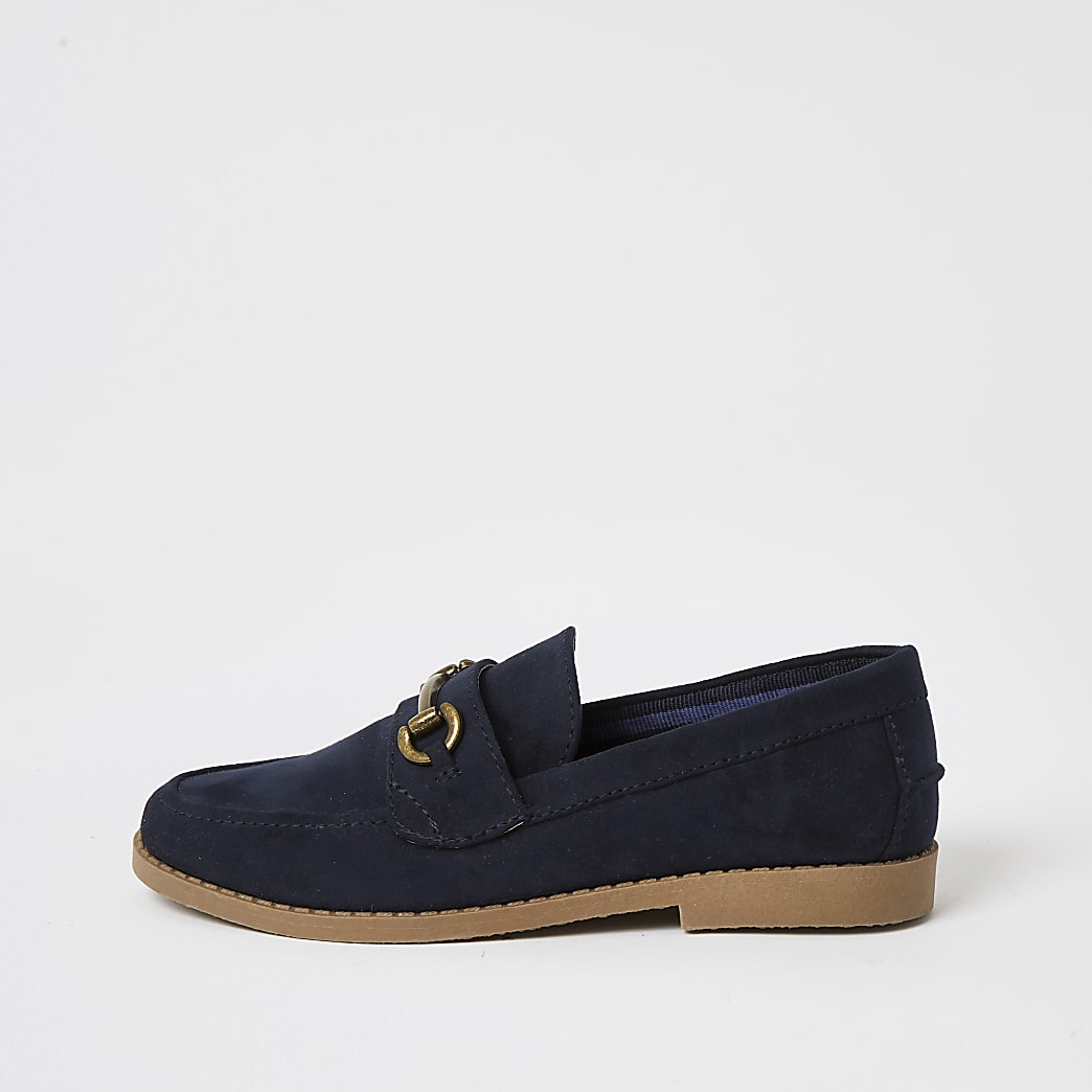 Boys navy loafer