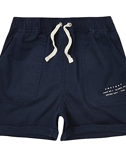 Boys navy pull on shorts