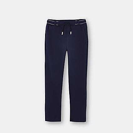 Boys navy RI branded trousers