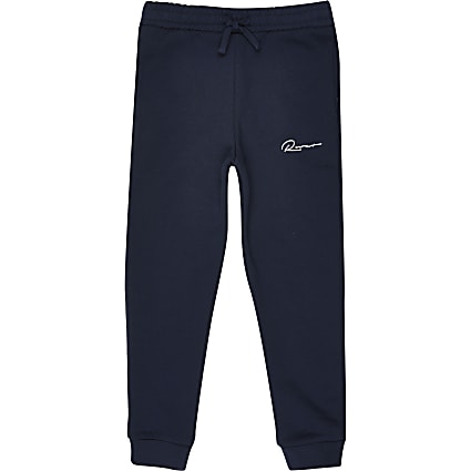 Boys navy 'River' printed joggers
