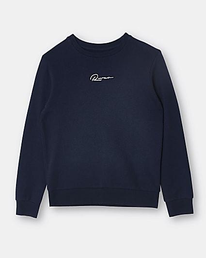 Boys navy River sweatshirt