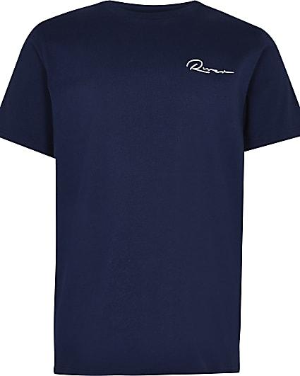 Boys navy 'River' t-shirt