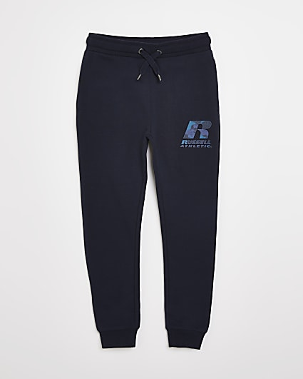 Boys navy Russel Athletic joggers