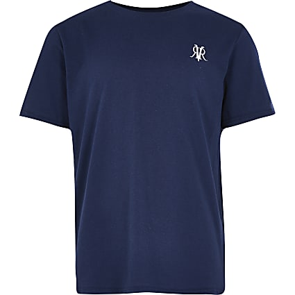 Boys navy RVR T-shirt