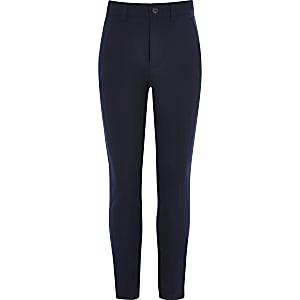 Marineblaue Skinny Fit Anzughose für Jungen
