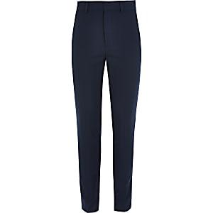 Marineblauwe nette slim-fit broek voor jongens