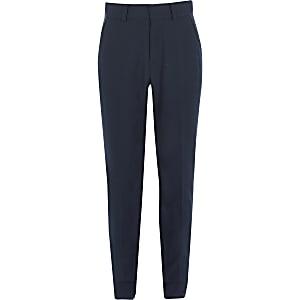Marineblauwe slim-fit pantalon voor jongens
