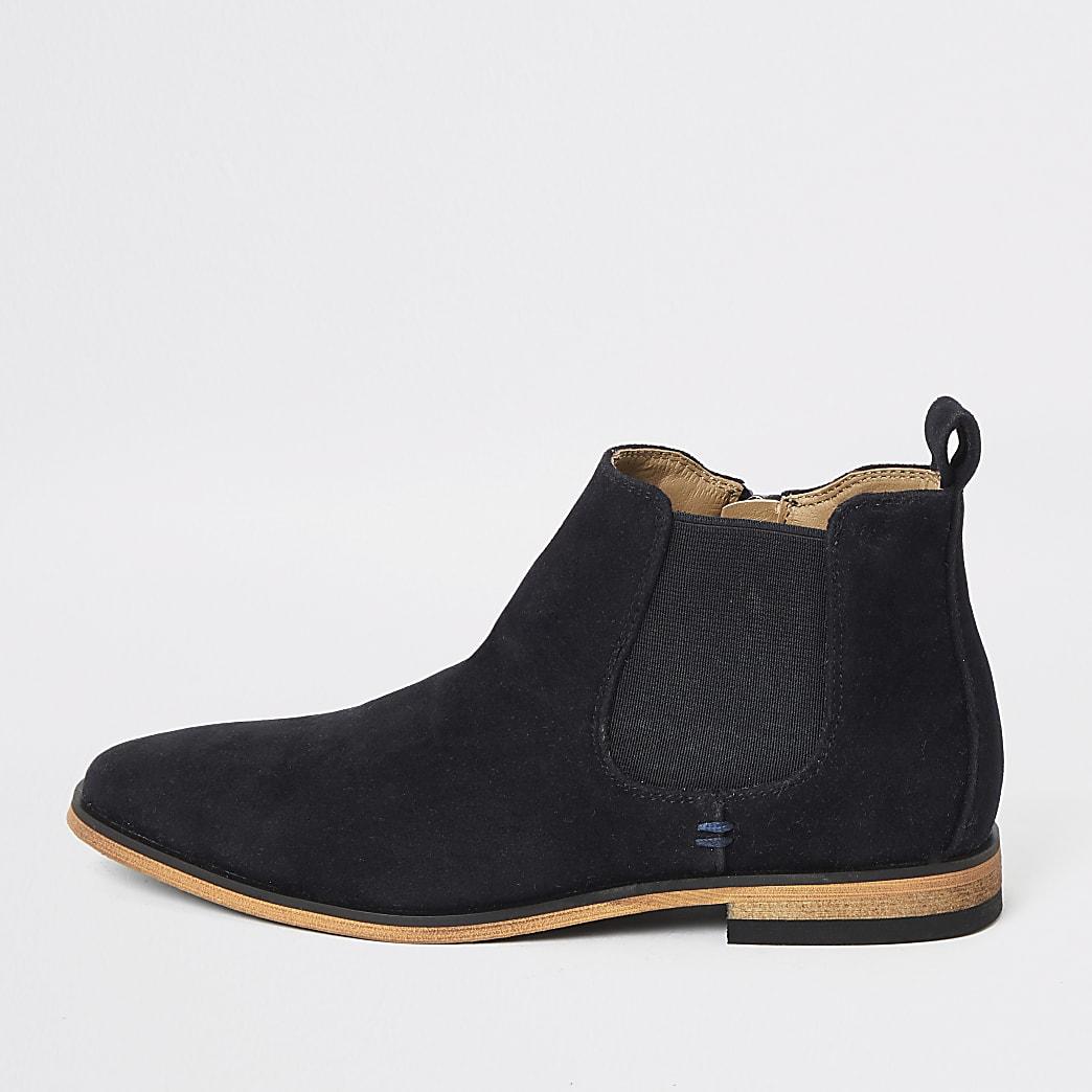 Boys navy smart chelsea boot