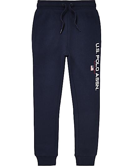 Boys navy U.S. Polo Assn joggers